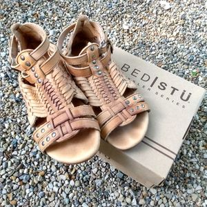 Bed Stu Claire Leather Gladiator Sandals